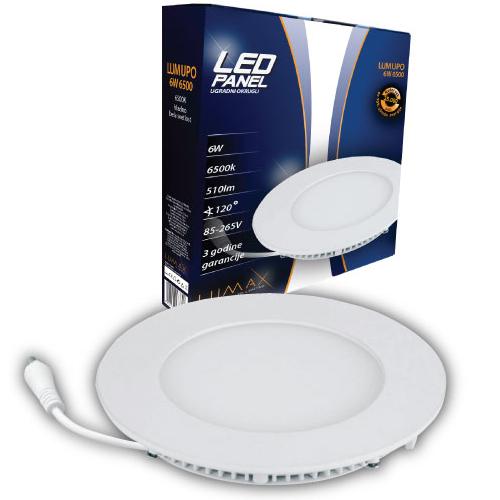 LED paneli ugradni okrugli 6W