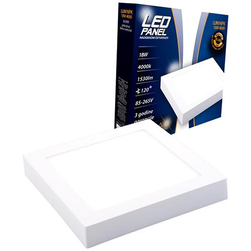 LED paneli nadgradni četvrtasti 18W 4000