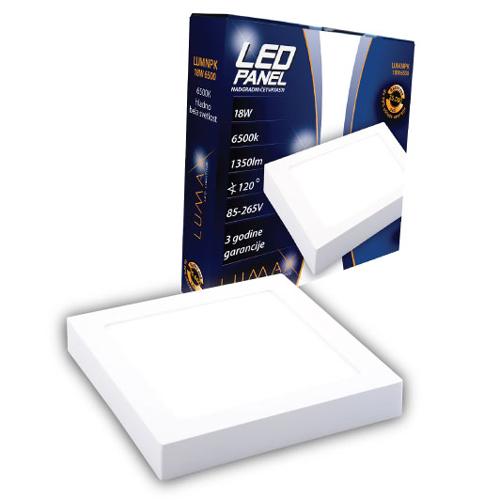 LED paneli nadgradni četvrtasti 18W 6500