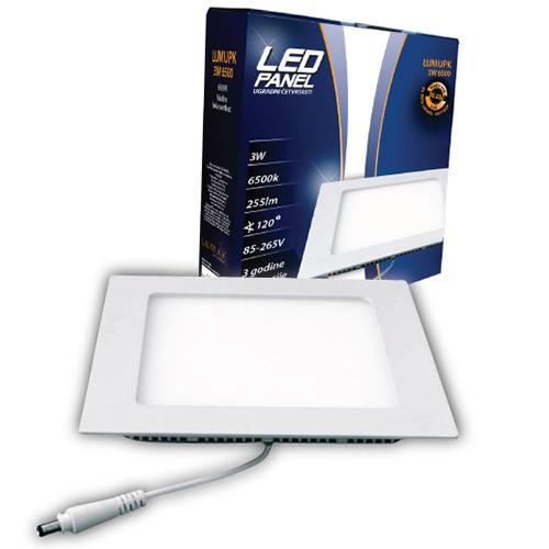 LED paneli ugradni četvrtasti 3W