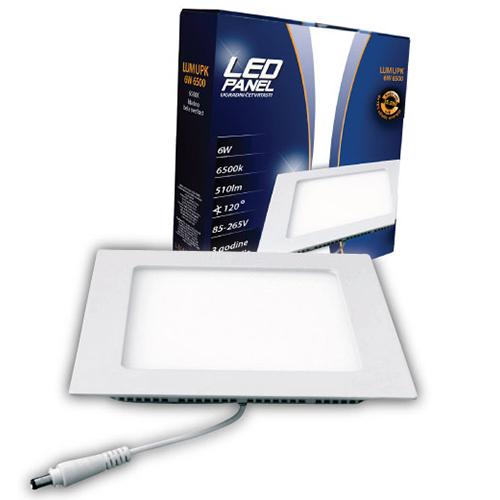 LED paneli ugradni četvrtasti 6W